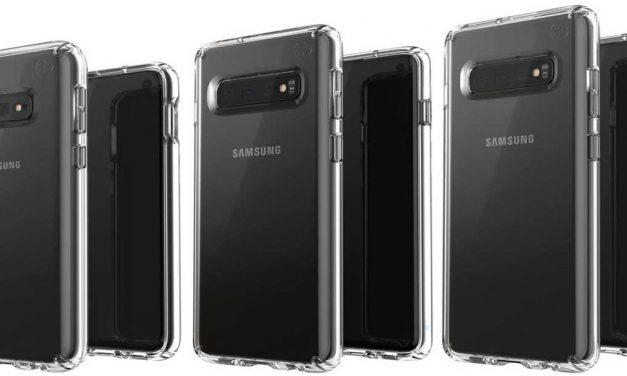 Procurele slike koje prikazuju tri varijante Samsung Galaxy S10